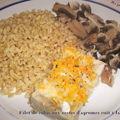 Filet de colin aux zestes d'agrumes cuit à la vapeur