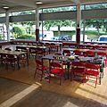 Les tables de l'espace jeu de société