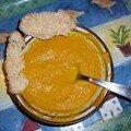 Creme de carottes a l'orange sanguine