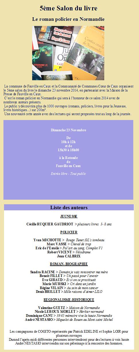 Dimanche 23 novembre 2014 à Fauville en Caux