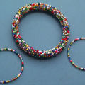 Boucles et bracelet de milles couleurs, MORGANE T. CREATIONS