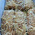 Crêpes fourrées aux poireaux & au jambon