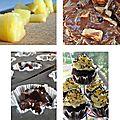 Cupcakes chocolat ananas