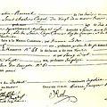 Acte de décès de Louis XVII - documant d'époque