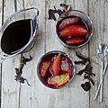 Soupe d'agrumes à l'hibiscus