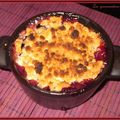 Crumble pommes, bananes, fruits rouges