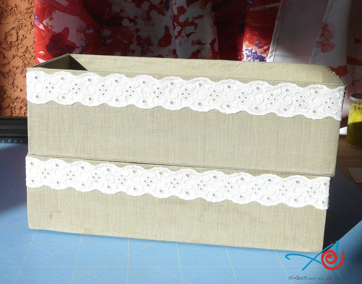 Boîtes de rangement habillées