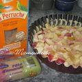 Gâteau aux pommes et à la pâte d'amande fraîche, coucou me revoiloù