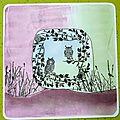 Gelli plate : 1 - des cartes avec encres et tampons + une astuce