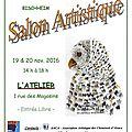Samedi 19 et dimanche 20 novembre 2016 : salon artistique à bischheim