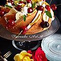 Bundt <b>Cake</b> aux Amandes et Fruits pour la fête des mères