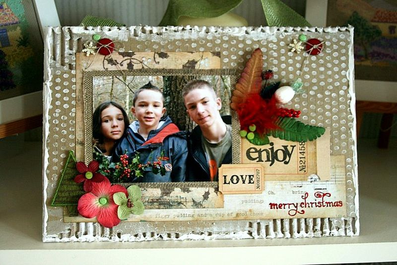 plaque Merry Christmas