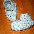 chaussons verts