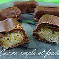 Barre chocolatée à la noix de coco