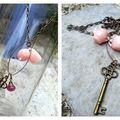 Collier laiton inspiration Alice in Wonderland