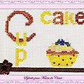 Échange ATC (Cupcake) Chez Malina Sylvette pour Marie de Clessé