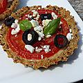 Tartelettes à la <b>tomate</b> en croûte de quinoa
