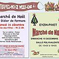 Marchés de Noël du week-end prochain + photos des derniers