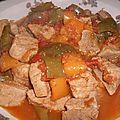 Saute de veau aux poivrons