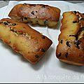 Muffins aux pépites de chocolat et pralin