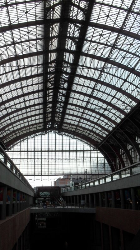 Anvers Central : verrière