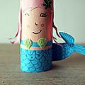 Les <b>Bricolettes</b> du Mercredi - # 9 Des sirènes porte-crayons