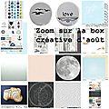 La box créative d'août 2016 et info congés