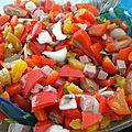 Salade de poivrons rouges et abricots secs
