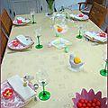 Déco de table d'avant pâques
