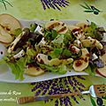 Salade aux pommes et fromage frais - ensalada con manzanas y queso fresco