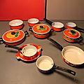 Une jolie dînette orange, toute décorée et seventies !Quoi