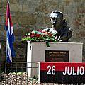 FRANCE CUBA HÉRAULT - 26 juillet 2012 – Montpellier devant la stèle de José Marti