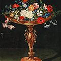 <b>Jan</b> <b>Brueghel</b> <b>II</b>, Flowers in a gilded tazza