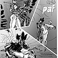 The sexy superheroines of The Masked League fighting in greytones Preview no# 10 p 04