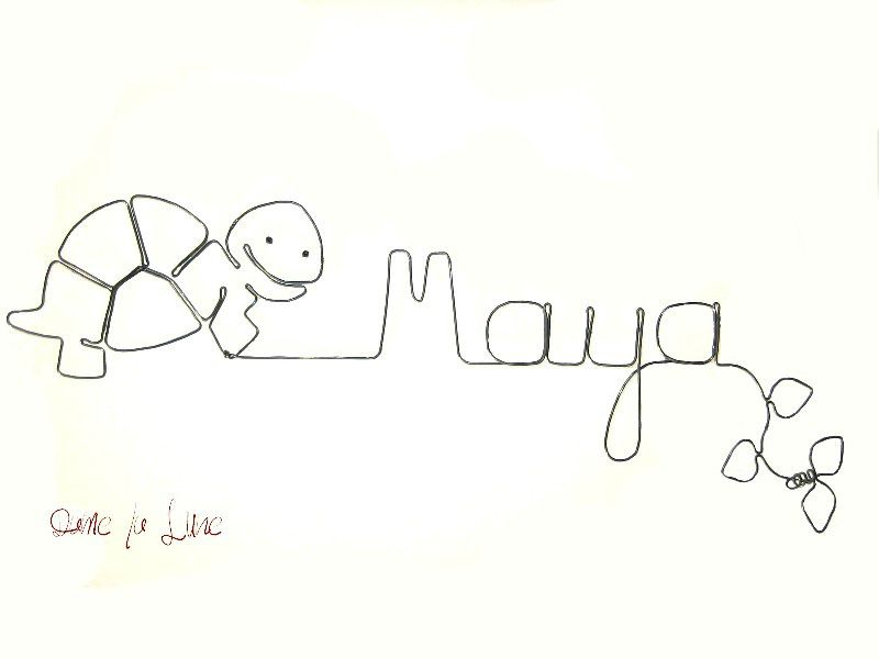 - PRENOM tout en fil, Maya aime les tortues!