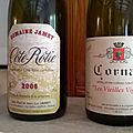 Cornas : <b>Alain</b> <b>Voge</b> : Vieilles Vignes 2005 et Côte Rôtie Jamet 2006