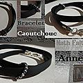 Bracelets caoutchouc