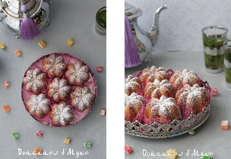 cakes aux loukoum fleur d'oranger