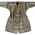 A rare silk robe, Central Asia, <b>11th</b>-<b>12th</b> <b>century</b>