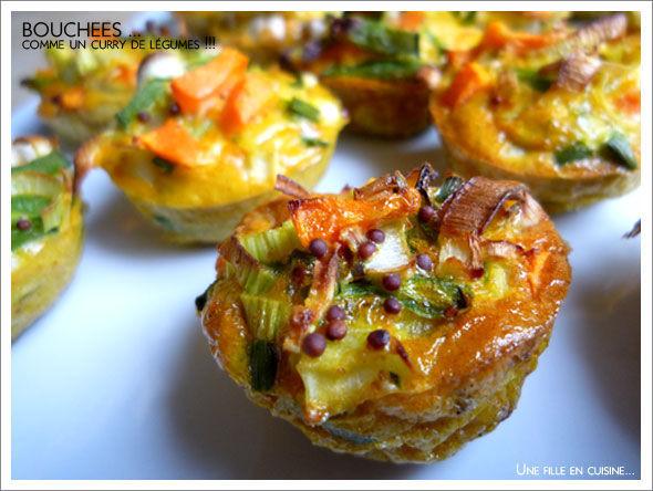 bouchées legumes curry