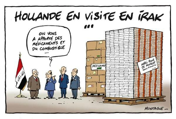 ps hollande humour irak