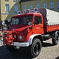 UNIMOG <b>404S</b> plateau bâché Freiwillige Feuerwehr Stadt Gaggenau 1959