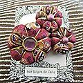 ♥ iness ♥ broche textile shabby chic bohème fleurs potirons - les yoyos de calie