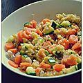 Dahl de lentilles corail aux carottes et a la courgette
