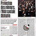 <b>Protection</b> des mineurs, <b>l</b>'Aide sociale démunie