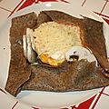 Galettes de sarrasin burger et oeufs à cheval à la plancha