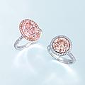 Two <b>coloured</b> <b>diamond</b> <b>and</b> <b>diamond</b> <b>rings</b>