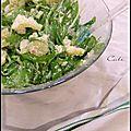 Salade de pommes de terre & chicoree sauvage- ensalada de papas & radicheta
