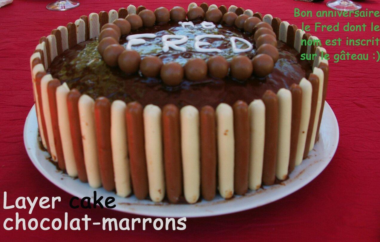 Tutoriel en images: layer chocolat-crème de marrons