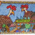 les poulettes et le renard